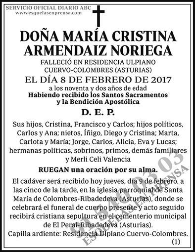 María Cristina Armendaiz Noriega
